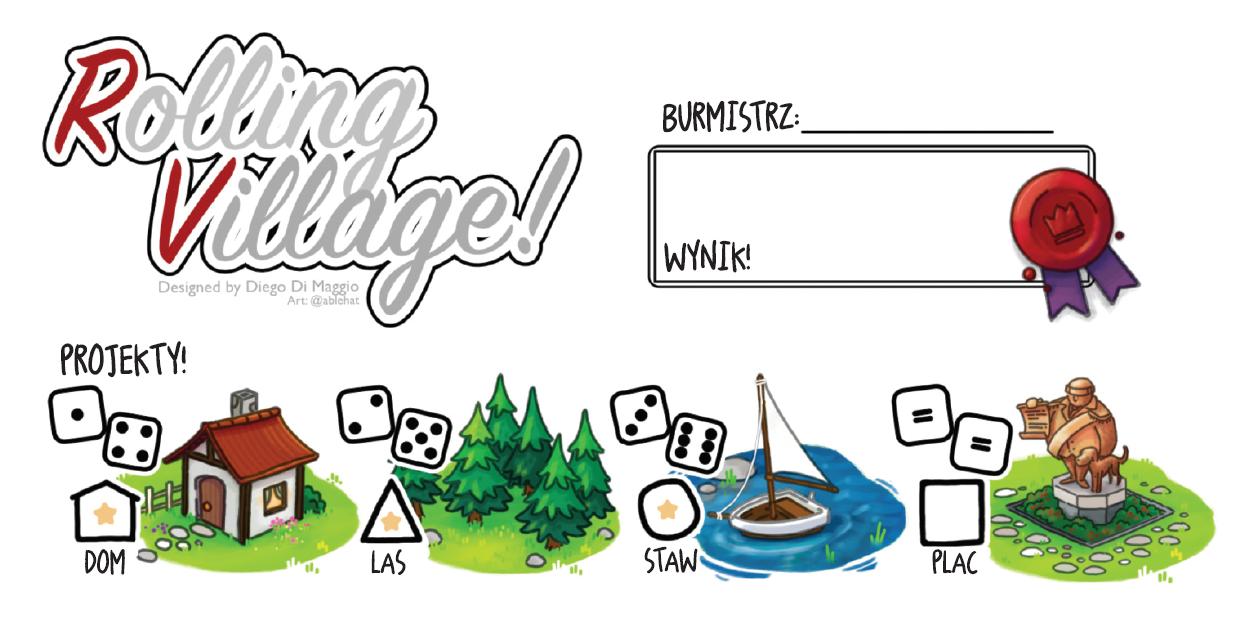 Planszówki na odległość – Rolling Village
